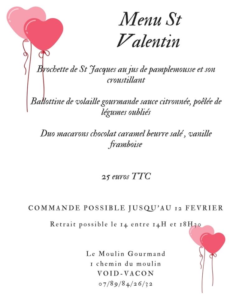 Idée Menu St Valentin Idée menu Saint Valentin… – Le moulin gourmand